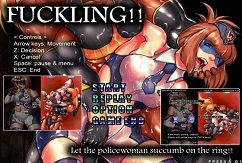 FUCKLING!! Let the policewoman succumb on the ring!! [ACT][English]